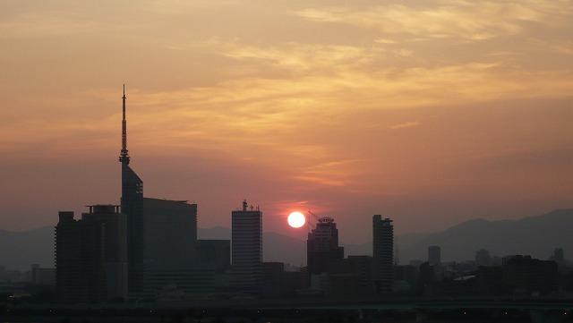 愛宕神社からの日の出
